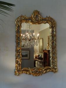 DSC00017 - houtgestoken en vergulde antieke Franse spiegel