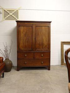 DSC00468 - Engels mahonie Regency kabinet ca. 1800