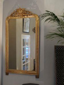 DSC00492 - Franse vergulde schoorsteenspiegel met ornament