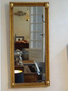 DSC00513 - Hollandse Empire vergulde spiegel ca. 1800