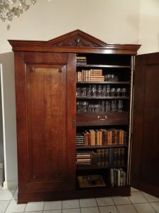 DSC00707 - eikenhouten bibliotheekkast  18e eeuw