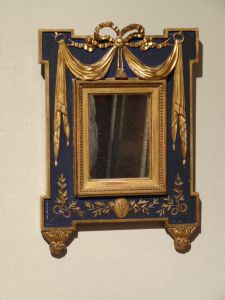 DSC00827 - verguld en gepatineerd Louis XVI spiegeltje