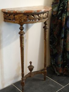 DSC00912 - verguld console tafeltje Louis XVI 18e eeuw