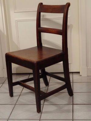 DSC01252 - Engelse eikenhouten stoelen, ca. 1800, Regency