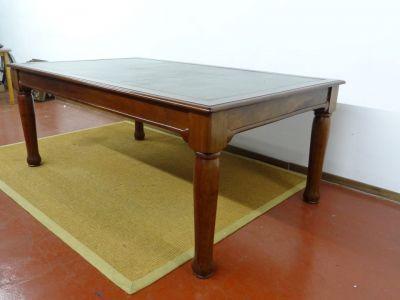 DSC01359 - mahoniehouten schrijftafel met lederen blad