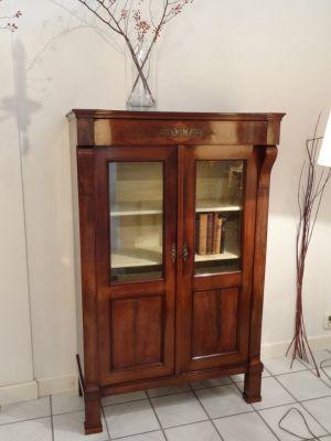 DSC01360 - Hollands mahonie boeken/vitrinekastje ca. 1800/1820