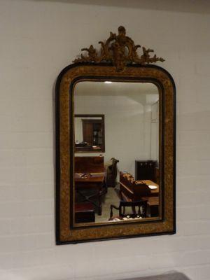DSC01476 - vergulde spiegel met ornament, ca. 1870