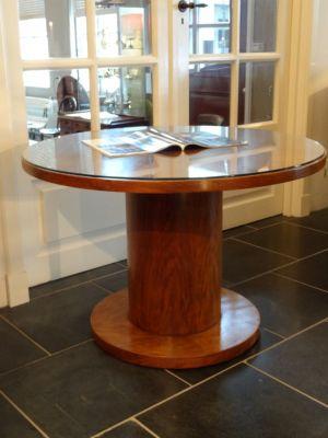DSC01574 - Art Deco tafel  notenhout